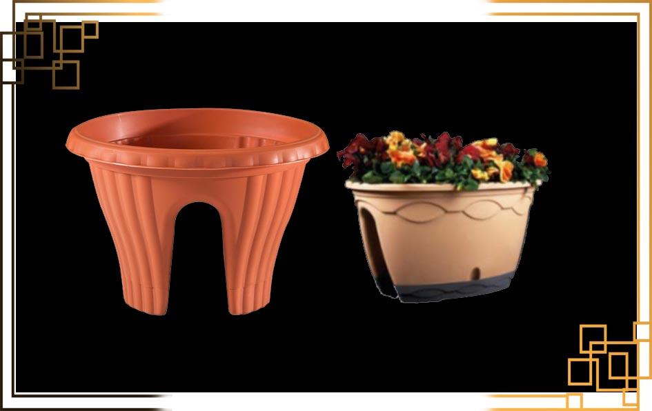گلدان پلاستیکی نرده ای
