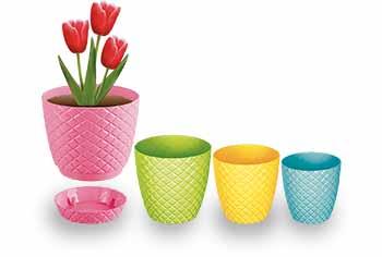 گلدان پلاستیکی جدید